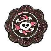 Skullicious™ - Baby Girl Skull - Baby Shower Dessert Plates - 8 Pack