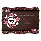 Skullicious™ - Baby Girl Skull - Baby Shower Invitations