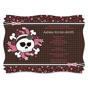 Skullicious™ - Baby Girl Skull - Baby Shower Invitations