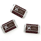 Skullicious™ - Baby Girl Skull - Personalized Baby Shower Mini Candy Bar Wrapper Favors - 20 ct