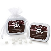 Skullicious™ - Baby Girl Skull - Mint Tin Personalized Baby Shower Favors
