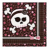 Skullicious™ - Baby Girl Skull - Baby Shower Luncheon Napkins - 16 ct