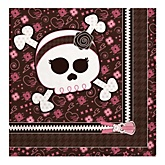 Skullicious™ - Baby Girl Skull - Baby Shower Luncheon Napkins - 16 Pack