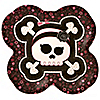 Skullicious™ - Baby Girl Skull - Baby Shower Dinner Plates - 8 ct