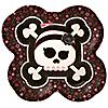 Skullicious™ - Baby Girl Skull - Baby Shower Dinner Plates - 8 ct