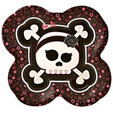 Skullicious™ - Baby Girl Skull - Baby Shower Dinner Plates - 8 Pack
