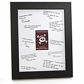 Skullicious™ - Baby Girl Skull - Personalized Baby Shower Print with Signature Mat