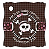 Skullicious™ - Baby Girl Skull - Personalized Baby Shower Tags - 20 ct