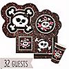 Skullicious™ - Girl Skull - Birthday Party 32 Big Dot Bundle