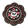Skullicious™ - Girl Skull - Birthday Party Dessert Plates - 8 ct