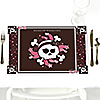 Skullicious™ - Girl Skull - Personalized Birthday Party Placemats