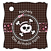 Skullicious™ - Girl Skull - Personalized Birthday Party Tags - 20 ct
