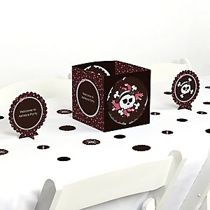 Skullicious&trade - Girl Skull - Party Centerpiece & Table Decoration Kit