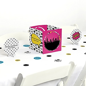 BAM! Girl Superhero - Party Centerpiece & Table Decoration Kit