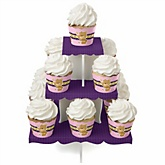Baby Girl Teddy Bear - Baby Shower Cupcake Stand & 13 Cupcake Wrappers