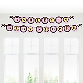 Baby Girl Teddy Bear - Personalized Baby Shower Garland Banner