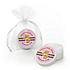 Baby Girl Teddy Bear - Personalized Baby Shower Lip Balm Favors