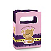 Baby Girl Teddy Bear - Personalized Baby Shower Mini Favor Boxes