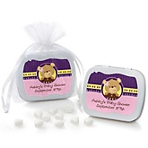 Baby Girl Teddy Bear - Mint Tin Personalized Baby Shower Favors