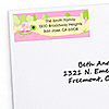 Girl Turtle - Personalized Birthday Party Return Address Labels - 30 ct