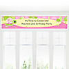 Girl Turtle - Personalized Birthday Party Banners