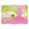 Girl Turtle - Personalized Birthday Party Invitations