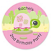 Girl Turtle - Personalized Birthday Party Sticker Labels - 24 ct