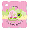 Girl Turtle - Personalized Birthday Party Tags - 20 ct