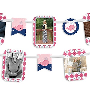 Tale Of A Girl Whale - Baby Shower Photo Bunting Banner