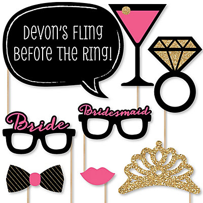 Girls Night Out - Bachelorette - 20 Piece Photo Booth Props Kit