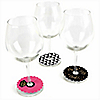 Girls Night Out  - Bachelorette Party Wine Glass Tags - Set of 15