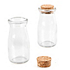 Empty Glass Cork Top Milk Bottle Jar - Baby Shower Do It Yourself