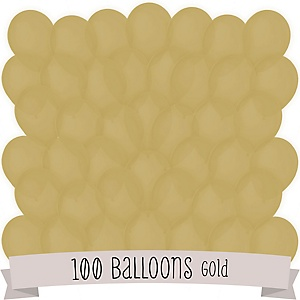 Gold - Party Latex Balloons - 100 ct