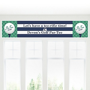 Par-Tee Time - Golf - Personalized Birthday or Retirement Party Banner