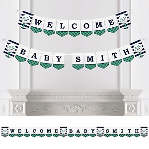 Par-Tee Time - Golf - Personalized Baby Shower Bunting Banner