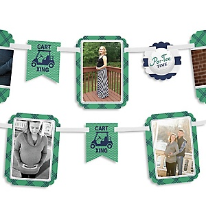 Par-Tee Time - Golf - Baby Shower Photo Garland Banners