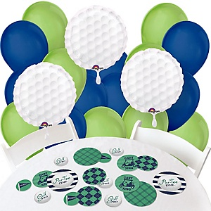 Par-Tee Time - Golf - Confetti and Balloon Party Decorations - Combo Kit