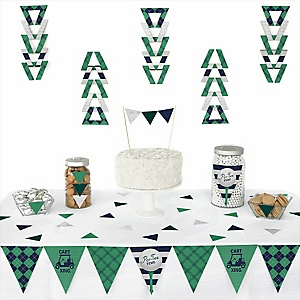 Par-Tee Time - Golf - 72 Piece Triangle Birthday or Retirement Party Decoration Kit