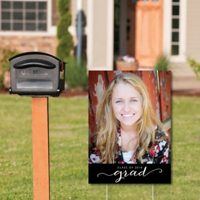 Graduation Photo Yard Sign - Grad Party Decorations