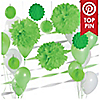 Green & White - Baby Shower Décor Kit