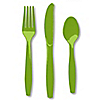 Lime Green - Baby Shower Forks, Knives, Spoons - 24 ct