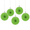 Green - Baby Shower Mini Paper Rosette Fans - 5 ct