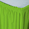 Lime Green - Baby Shower Plastic Table Skirts