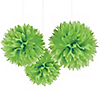 Green - Baby Shower Tissue Paper Pom Poms - 3 ct