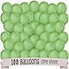 Lime Green - Birthday Party Latex Balloons - 100 ct
