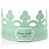 Green - Daddy-To-Be-Crown - Personalized Baby Shower Gift