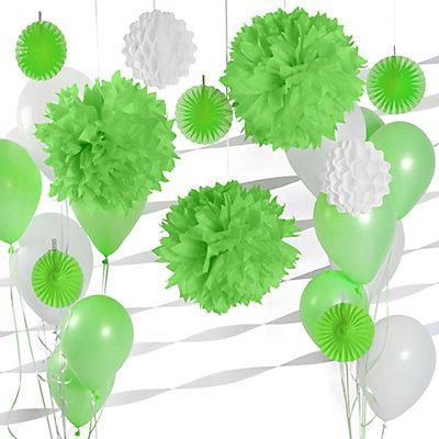 Green & White - Bridal Shower Decoration Kit
