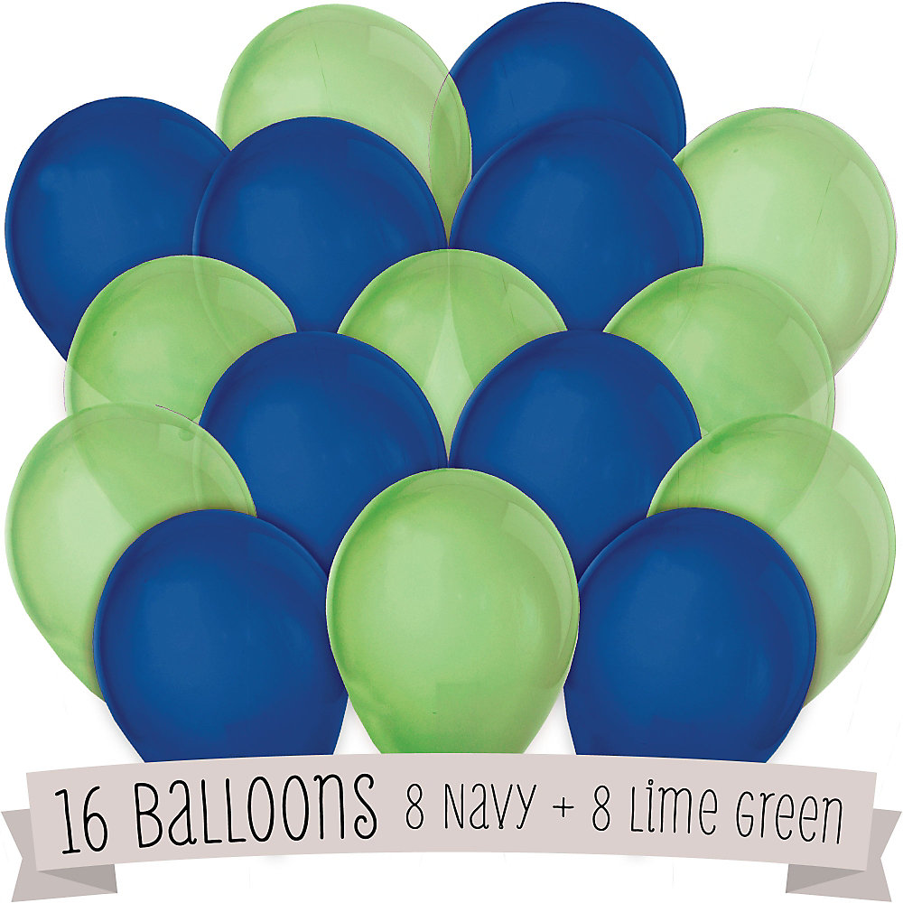 Green and blue balloons - Loading