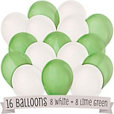Lime Green and White - Baby Shower Balloon Kit - 16 Count
