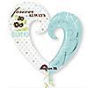 Forever Always - Bridal Shower Mylar Balloon